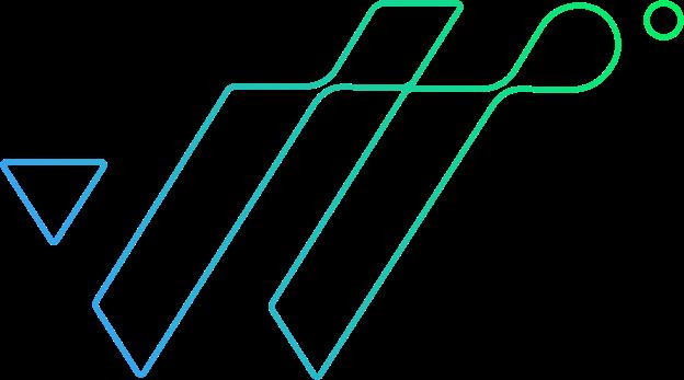 logo the wave bleu