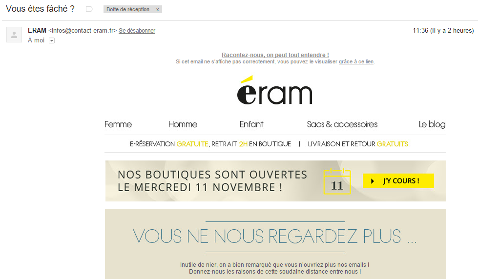 Campagne relance email