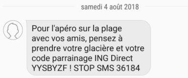 SMS ING