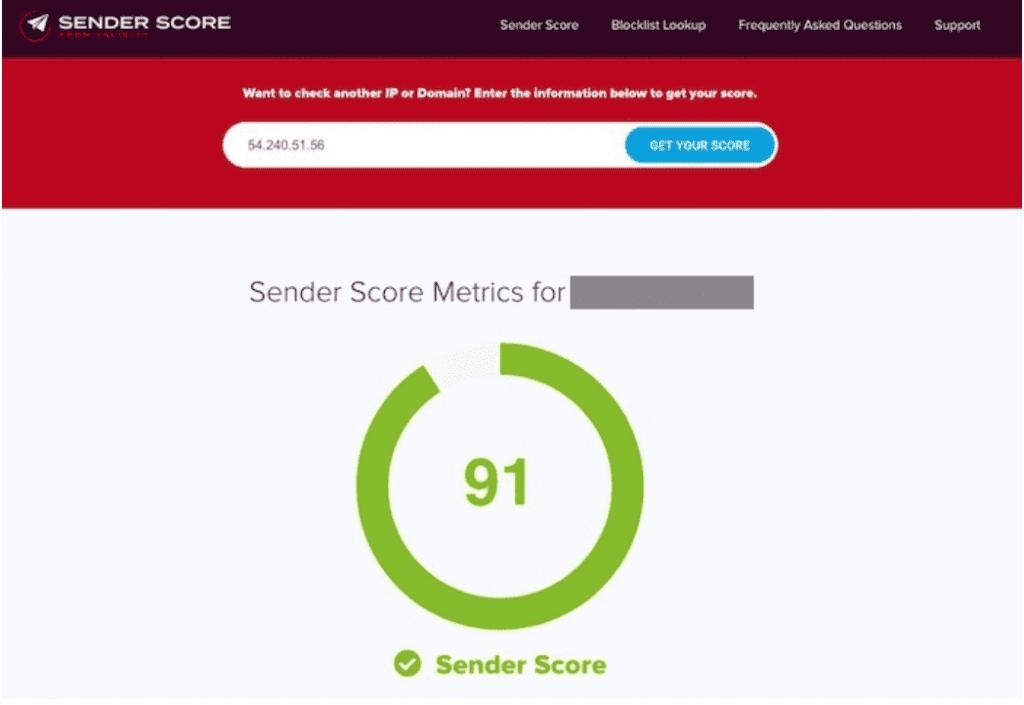 tester son sender score spam