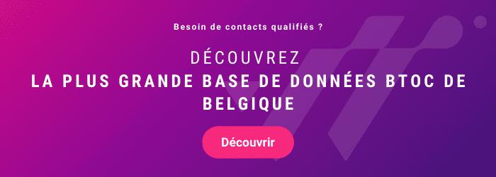 CTA : découvrir la plus grande base de données BTOC de Belgique